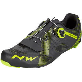 Northwave Storm Carbon Shoes Men black/yellow fluo